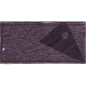 Klättermusen Eir Headband night orchid/grey melange